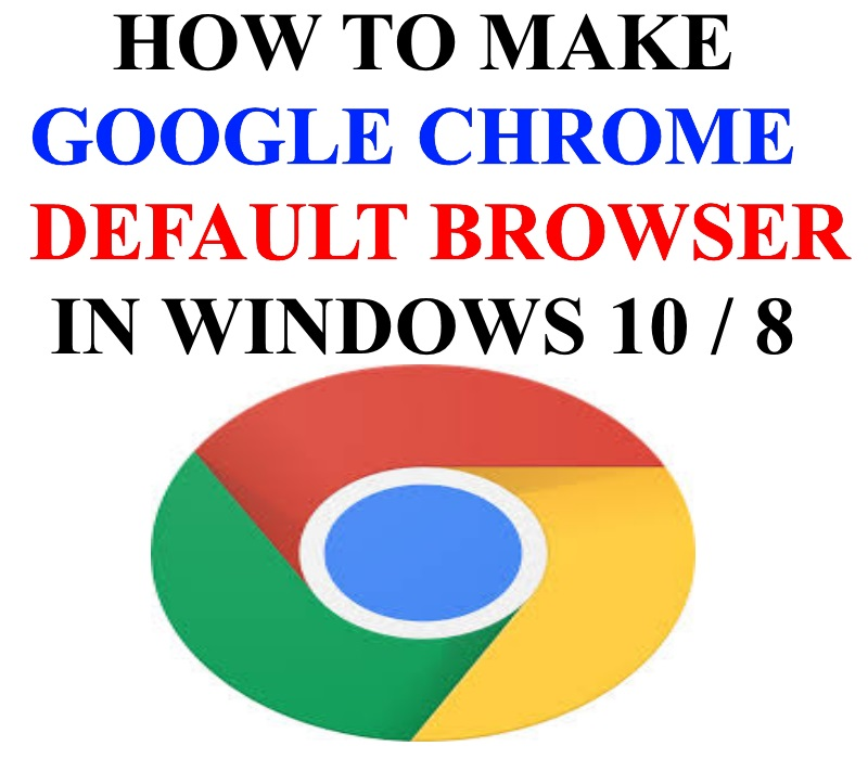 How to Set Google Chrome as Default Browser in Windows 10 / 8