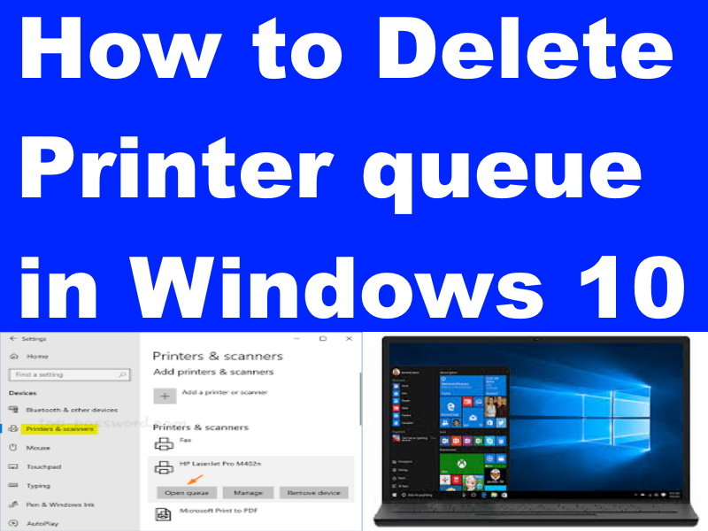 how to cancel or delete printer queue in windows 10